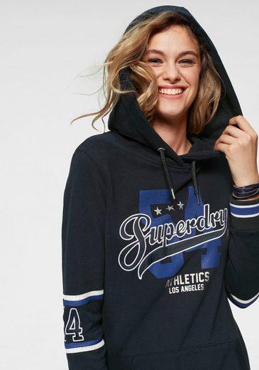 Logoschriftzug Sweat »beccy Superdry Mit Dress« Stylischem Sweatkleid q0nazw4