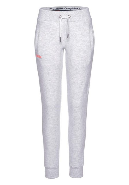 Hosen - Superdry Jogger Pants »ORANGE LABEL JOGGER« mit kleiner Logo Stickerei › grau  - Onlineshop OTTO