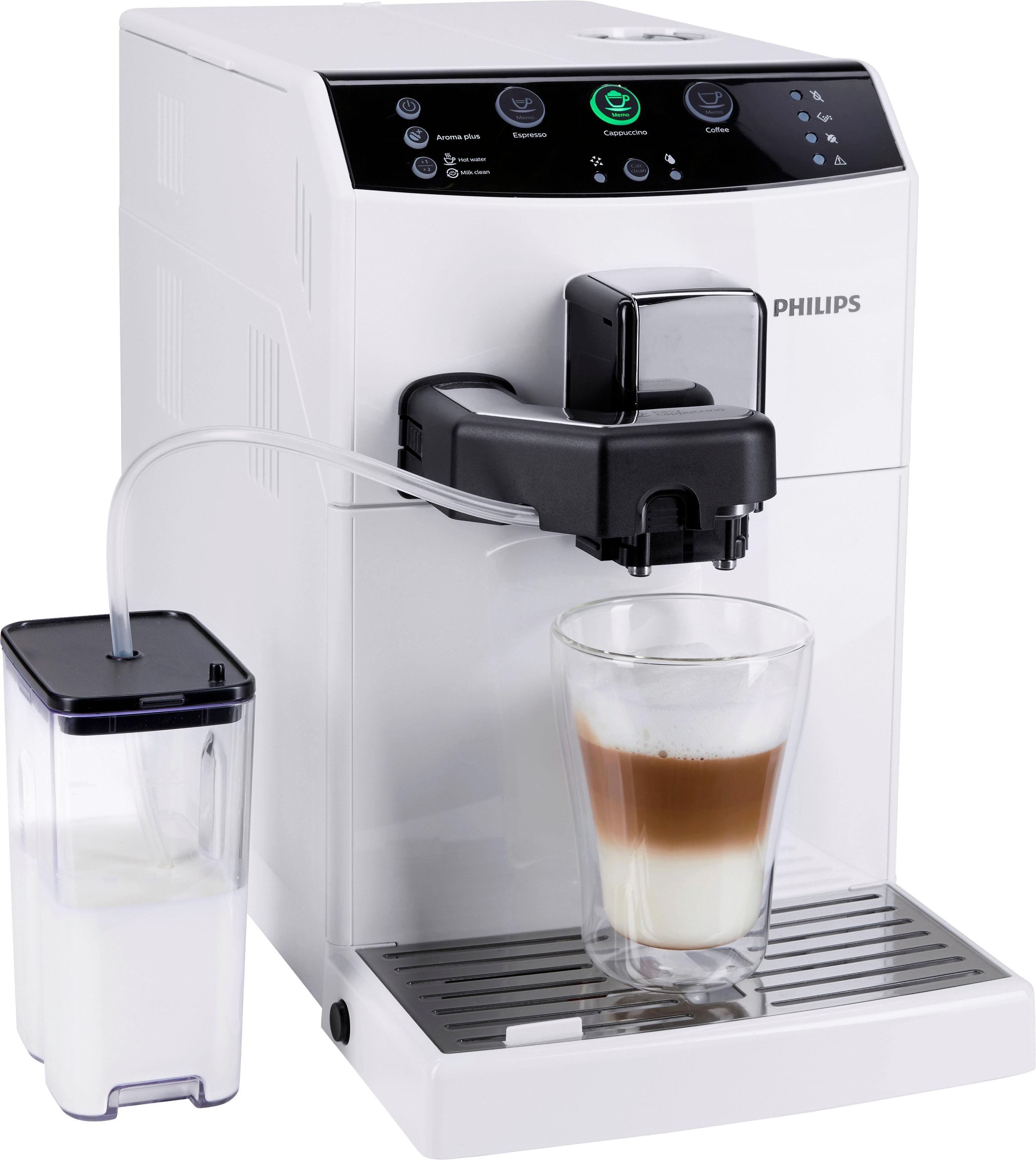 Philips Kaffeevollautomat 3000 Serie HD8830/12, EasyCappuccino, klavierlack-weiß