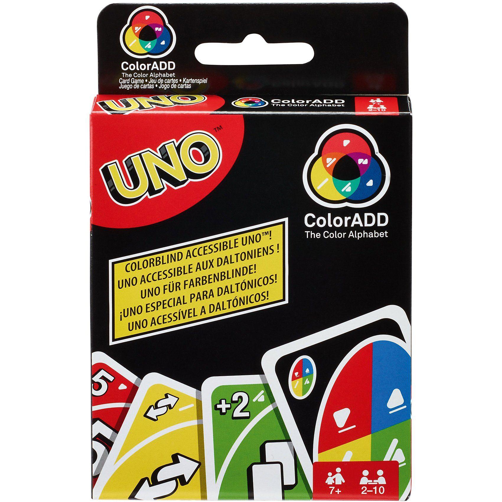 Mattel® UNO ColorADD mit Farbsymbolen