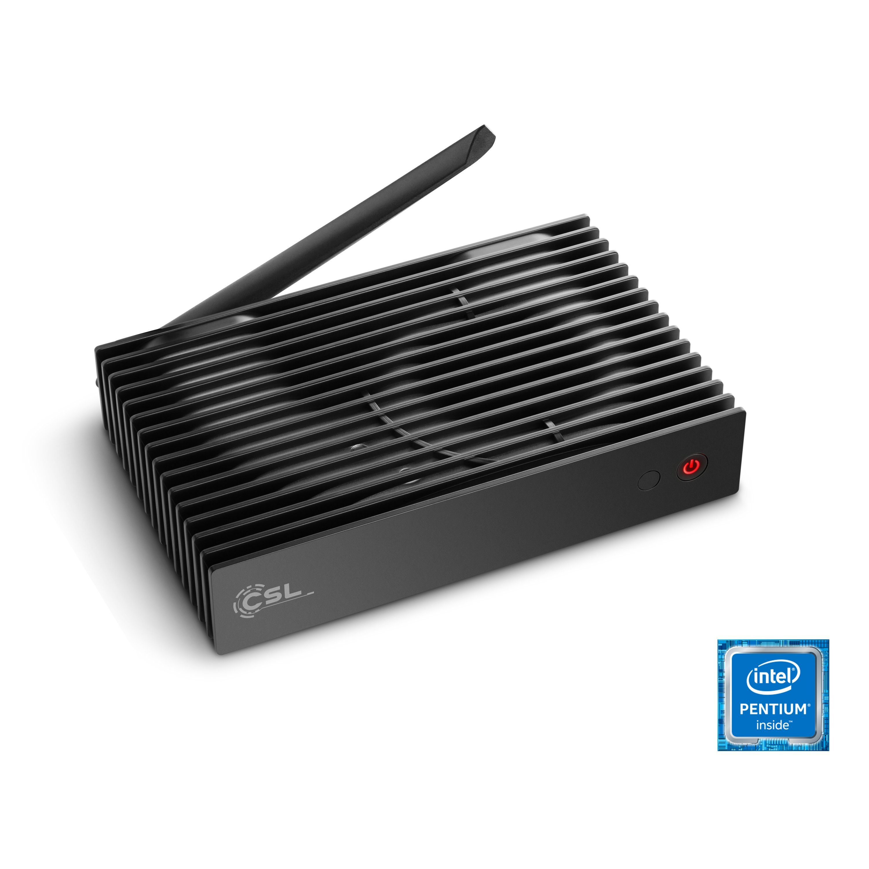 CSL Silent Mini PC - lautlos, WLAN, 4GB RAM »Narrow Box UHD Storage Line Pentium, Win 10 Pro«