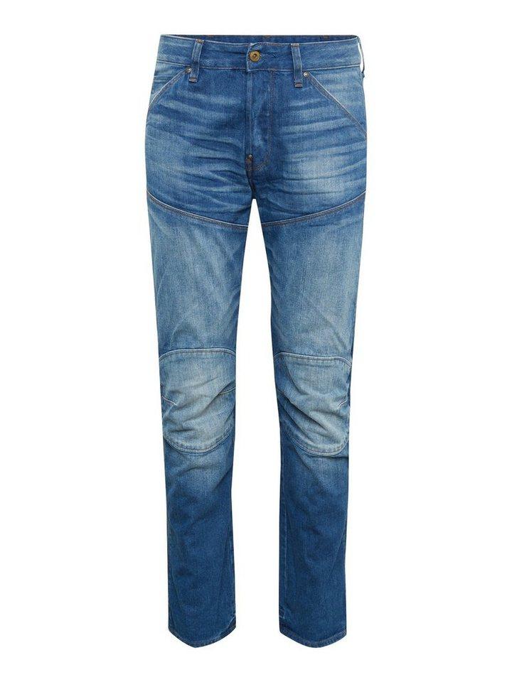 Herren G-Star RAW Slim-fit-Jeans 5620 (ELWOOD) 3D STRAIGHT blau | 08719369697425