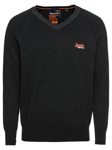 Superdry V-Ausschnitt-Pullover »ORANGE LABEL COTTON VEE«
