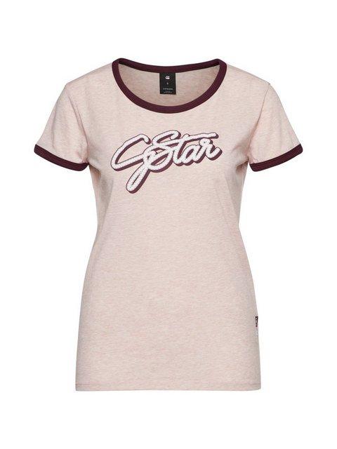 Damen G-Star RAW Rundhalsshirt rosa | 08719369469367