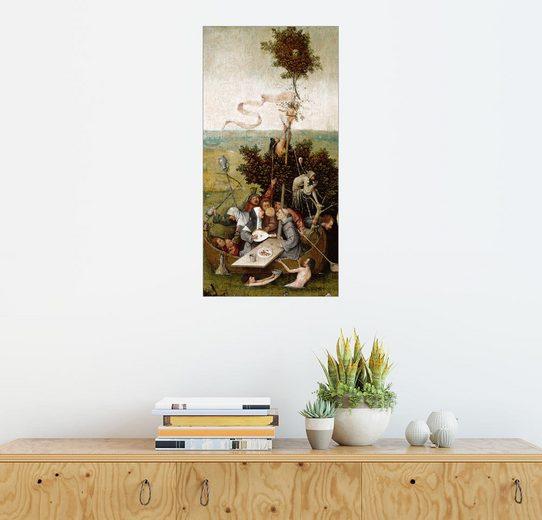 Posterlounge Wandbild - Hieronymus Bosch »Das Narrenschiff«