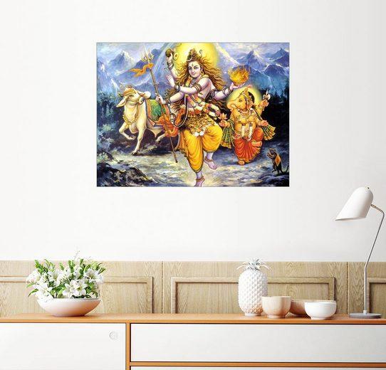 Posterlounge Wandbild »Krishna, Shiva und Ganesha«