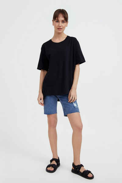 Finn Flare T-Shirt mit verlängerter Rückenpartie