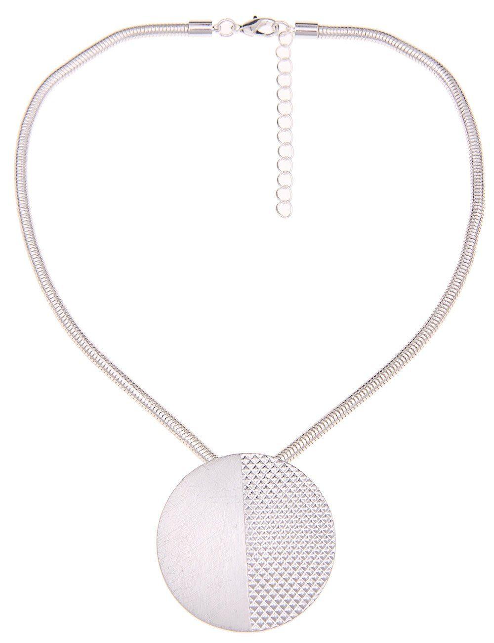 Leslii Halskette mit gemustertem Scheibenanhänger