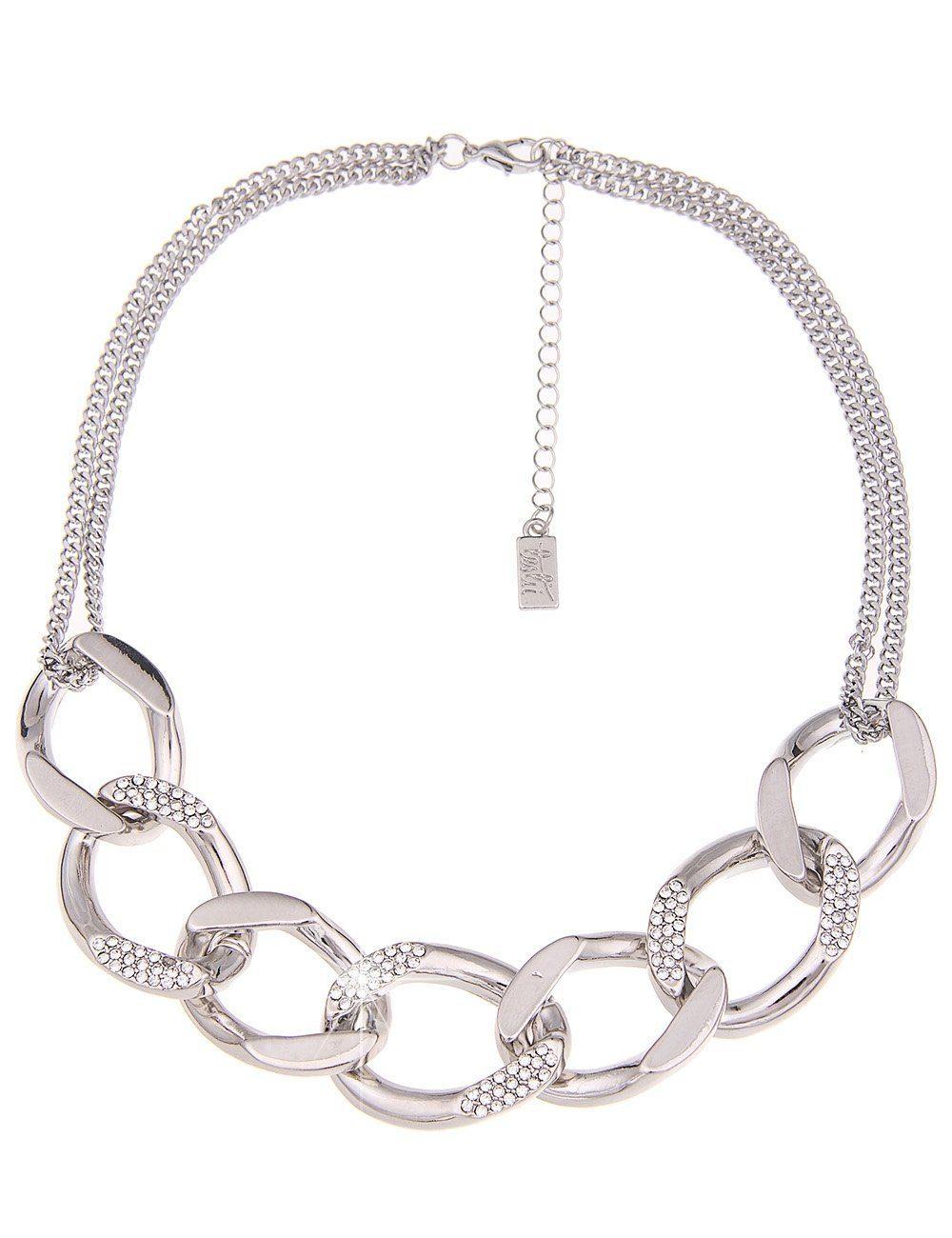 Leslii Halskette aus massiven Gliedern