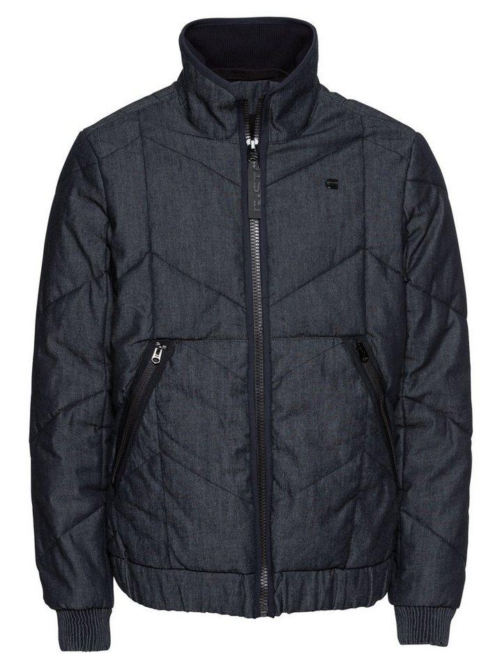 Herren G-Star RAW Steppjacke Whistler meefic quilted bomber blau | 08719369836299