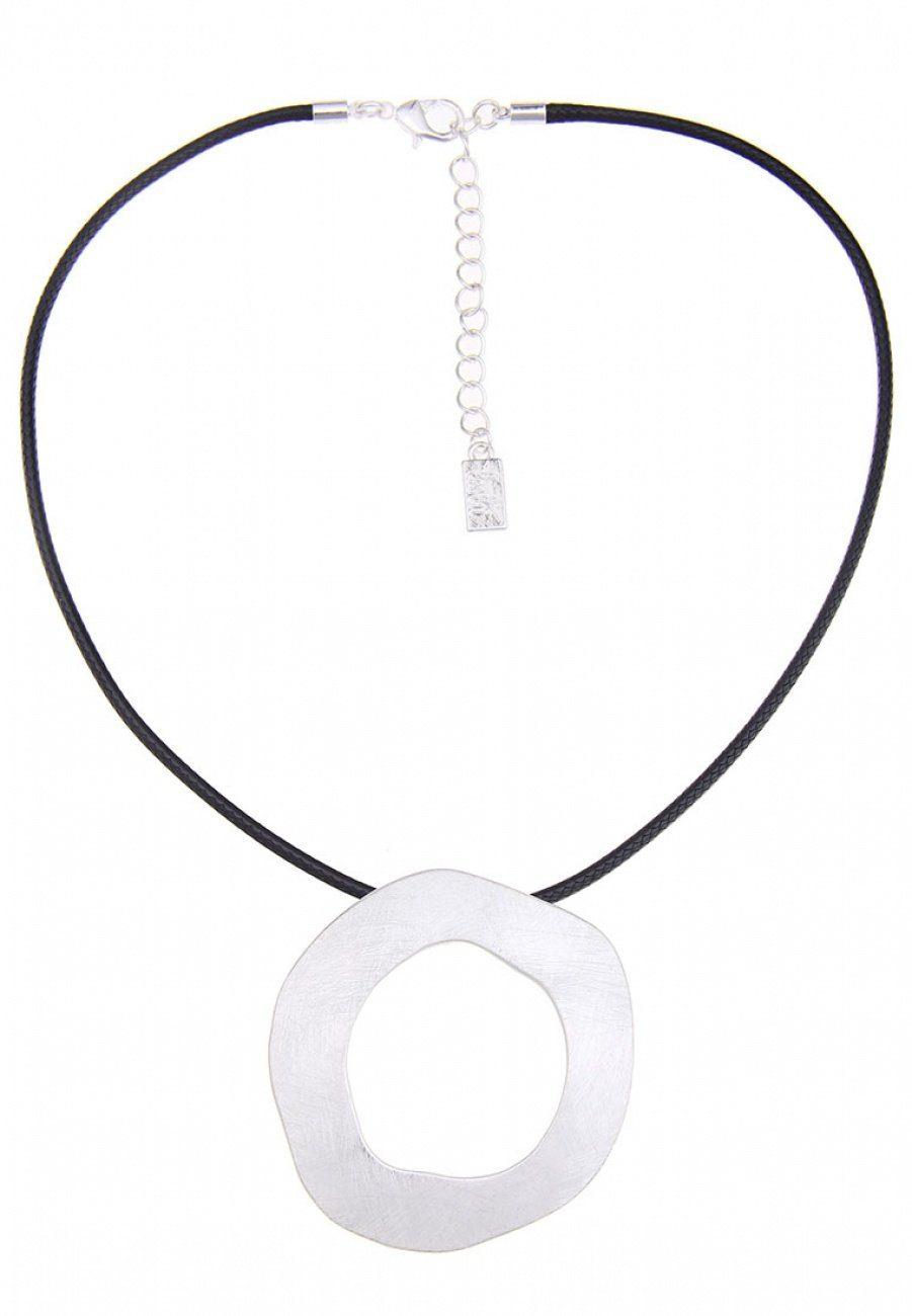Leslii Statement Halskette mit Ring-Anhänger