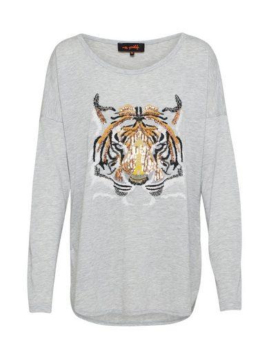 Miss Goodlife Oversize-Shirt »Tigerhead« Pailletten