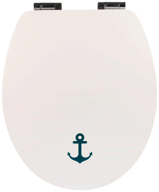 WC-Sitz »Schiffsanker«, mit Absenkautomatik und Holzkern