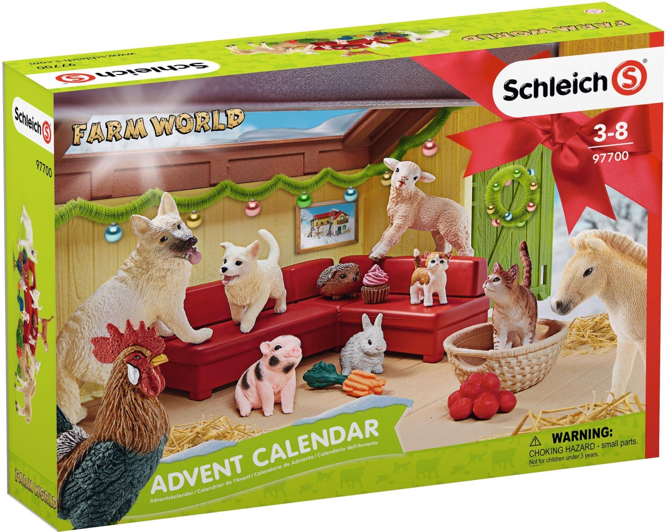 Schleich® Adventskalender (97700), »Farm World 2018«