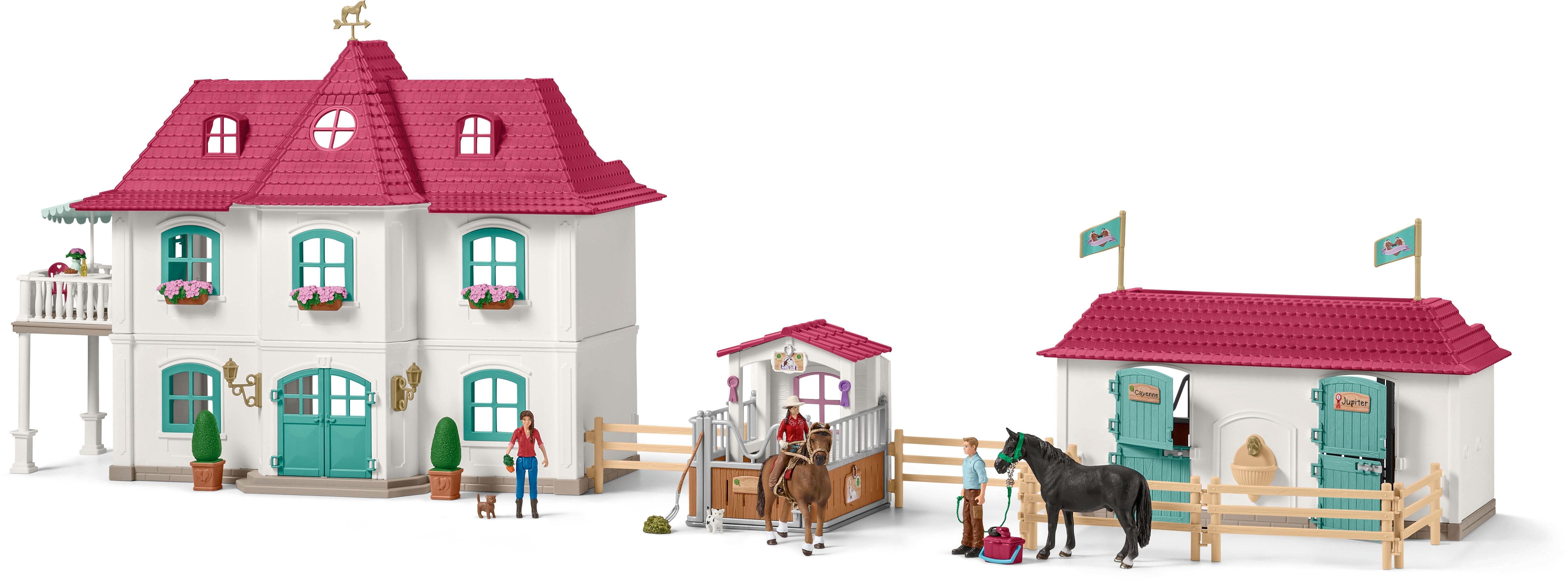 Action- & Spielfiguren Schleich Horse Club 42416 Großer Pferdehof mit Wohnhaus und Stall