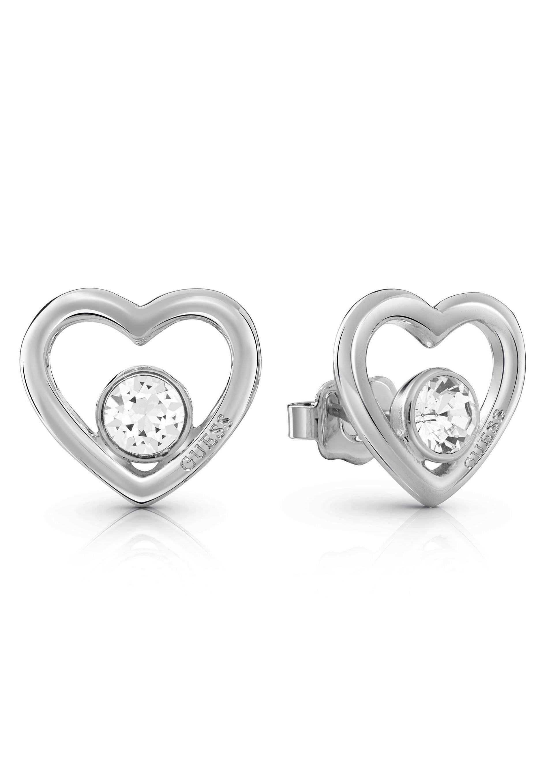 Guess Paar Ohrstecker »Herzen, PRINCESS, UBE85074« mit Swarovski® Kristallen online kaufen | OTTO