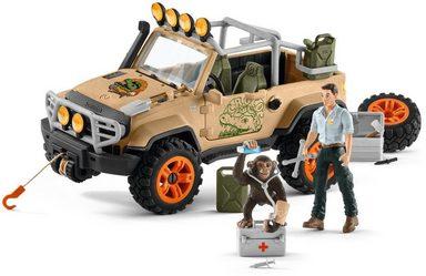 Schleich® Spielzeug-Auto »Wild Life, Geländewagen mit Seilwinde«, (Set)
