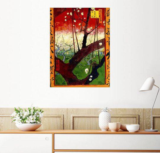 Posterlounge Wandbild - Vincent van Gogh »Pflaumenbaum in der Blüte (nach Hiroshige)«