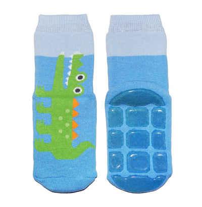 WERI SPEZIALS Strumpfhersteller GmbH ABS-Socken »Kinder ABS-Socken für Mädchen und Jungs >>Ferne Reise!<< mit Baumwolle«