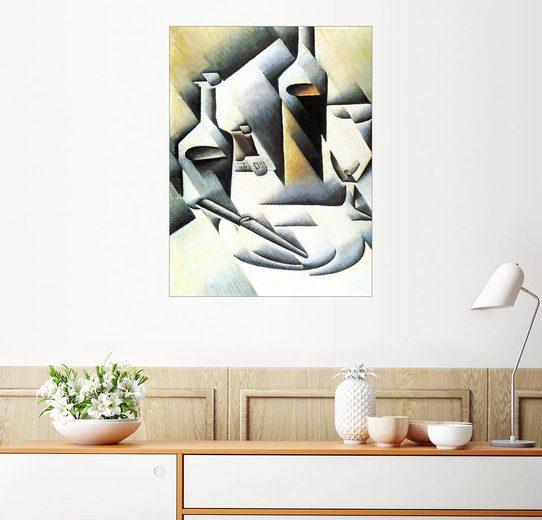 Posterlounge Wandbild - Juan Gris »Stillleben mit Flaschen und Messer«