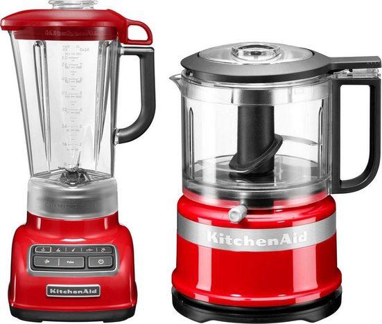 KitchenAid Standmixer 5KSB1585EER und Mini Zerkleinerer 5KFC3516, 550 W, Vorteilsset: Du sparst gegenüber Einzelkauf 62,90€