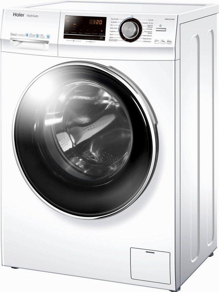 haier waschmaschine hw90 b14636 9 kg 1400 u min otto. Black Bedroom Furniture Sets. Home Design Ideas