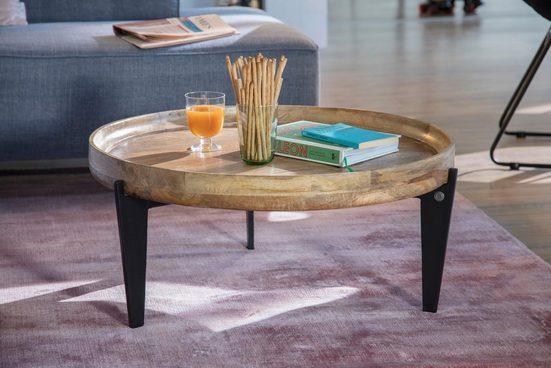 TOM TAILOR Couchtisch »T-TRAY TABLE LARGE«, mit Tablett, rund, ø 75 cm