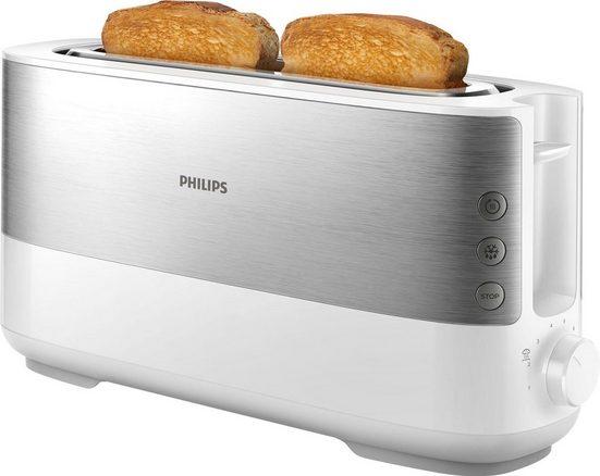 Philips Toaster HD2692/00, 1 langer Schlitz, für 2 Scheiben, 950 W