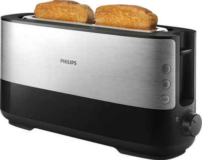 Philips Toaster HD2692/90, 1 langer Schlitz, für 2 Scheiben, 950 W
