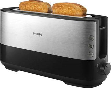 Philips Toaster HD2692/90, 2 lange Schlitze, für 2 Scheiben, 950 W