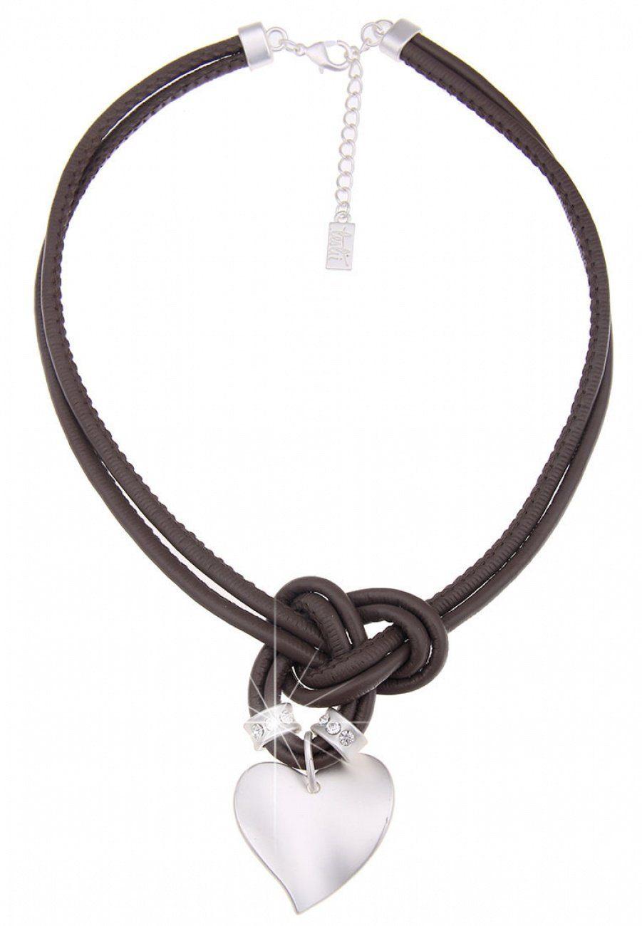 Leslii Halskette mit Anhänger in Herz-Form