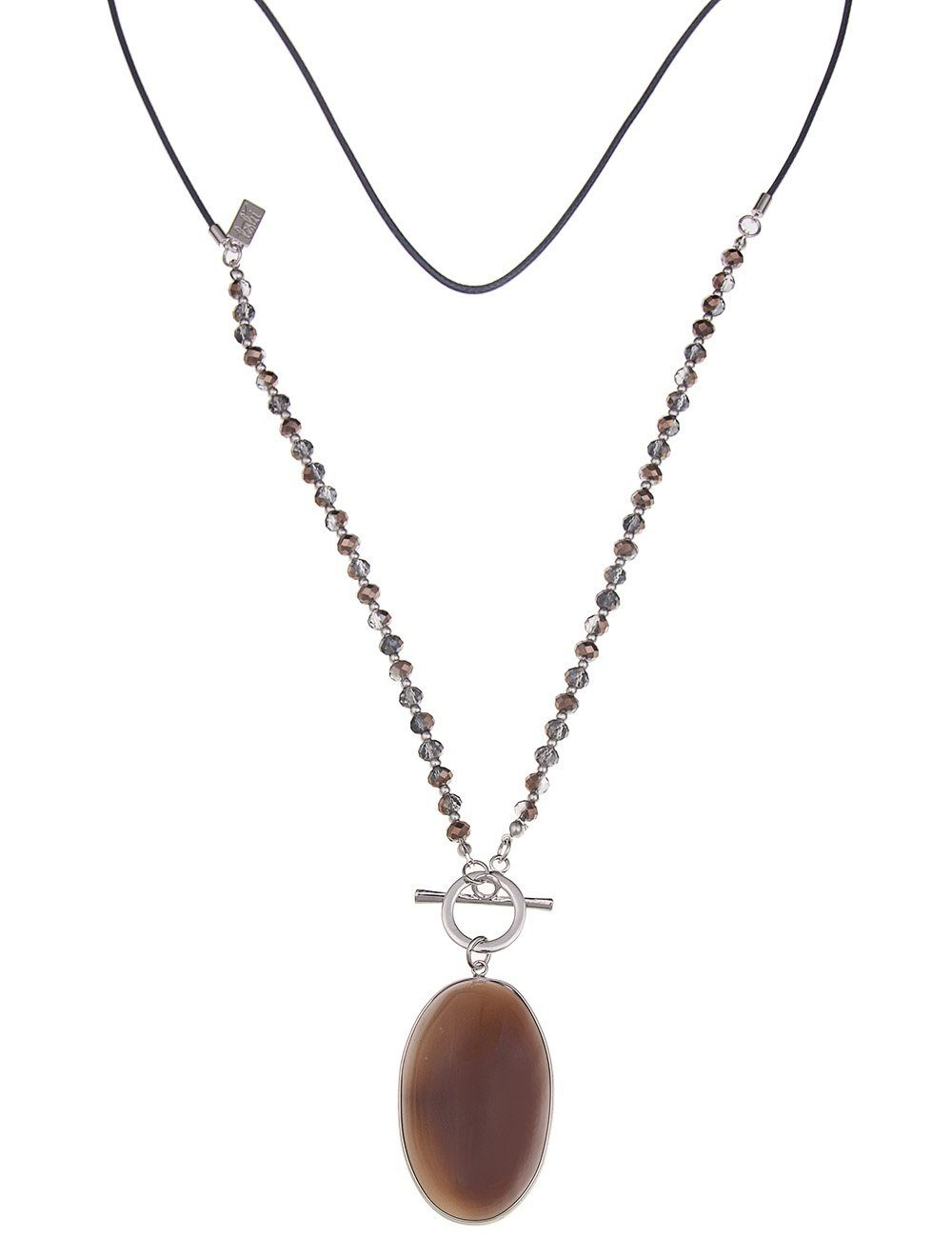 Leslii Halskette mit Achat-Stein