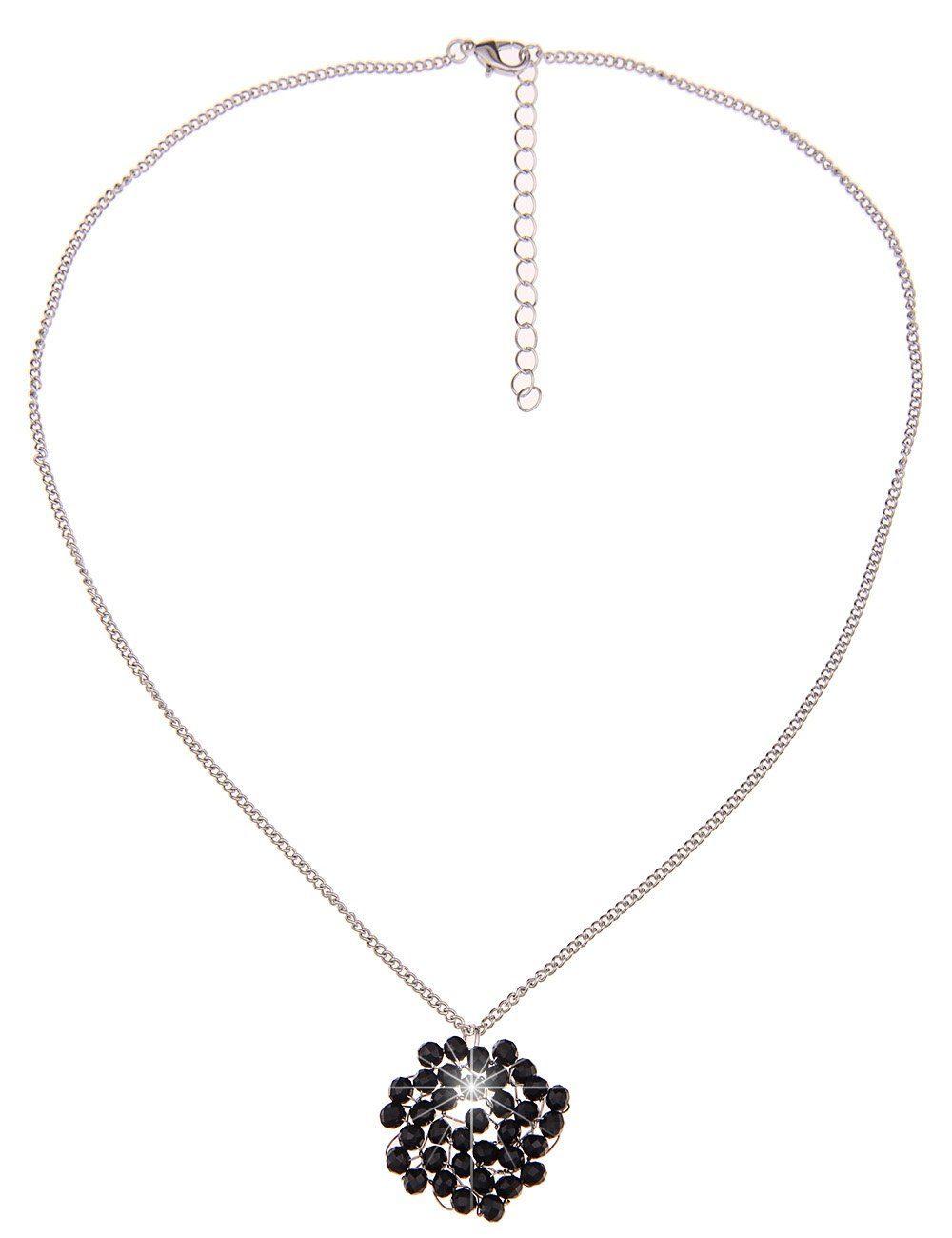 Leslii Halskette mit schwarzen Glasperlen