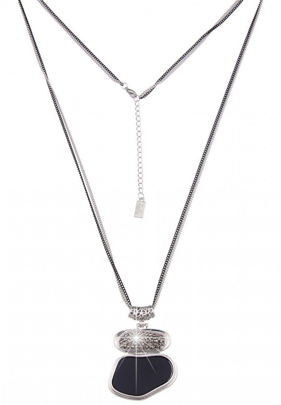 Leslii Halskette mit schwarzem Stein