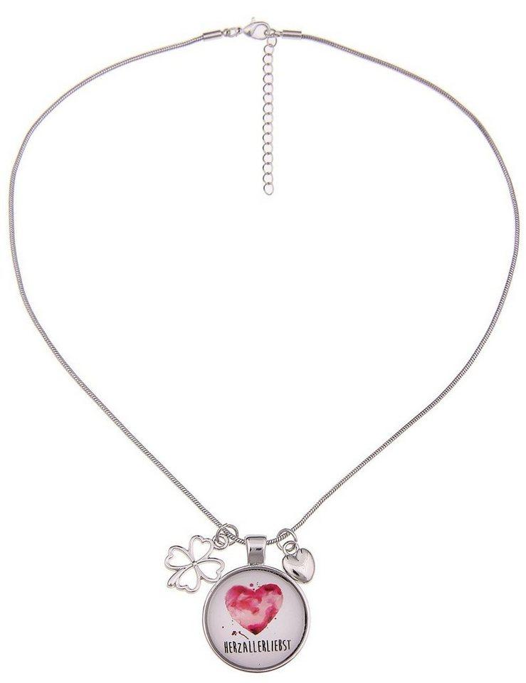 Damen Leslii Trachten-Halskette mit Anhängern silber   04250980355157