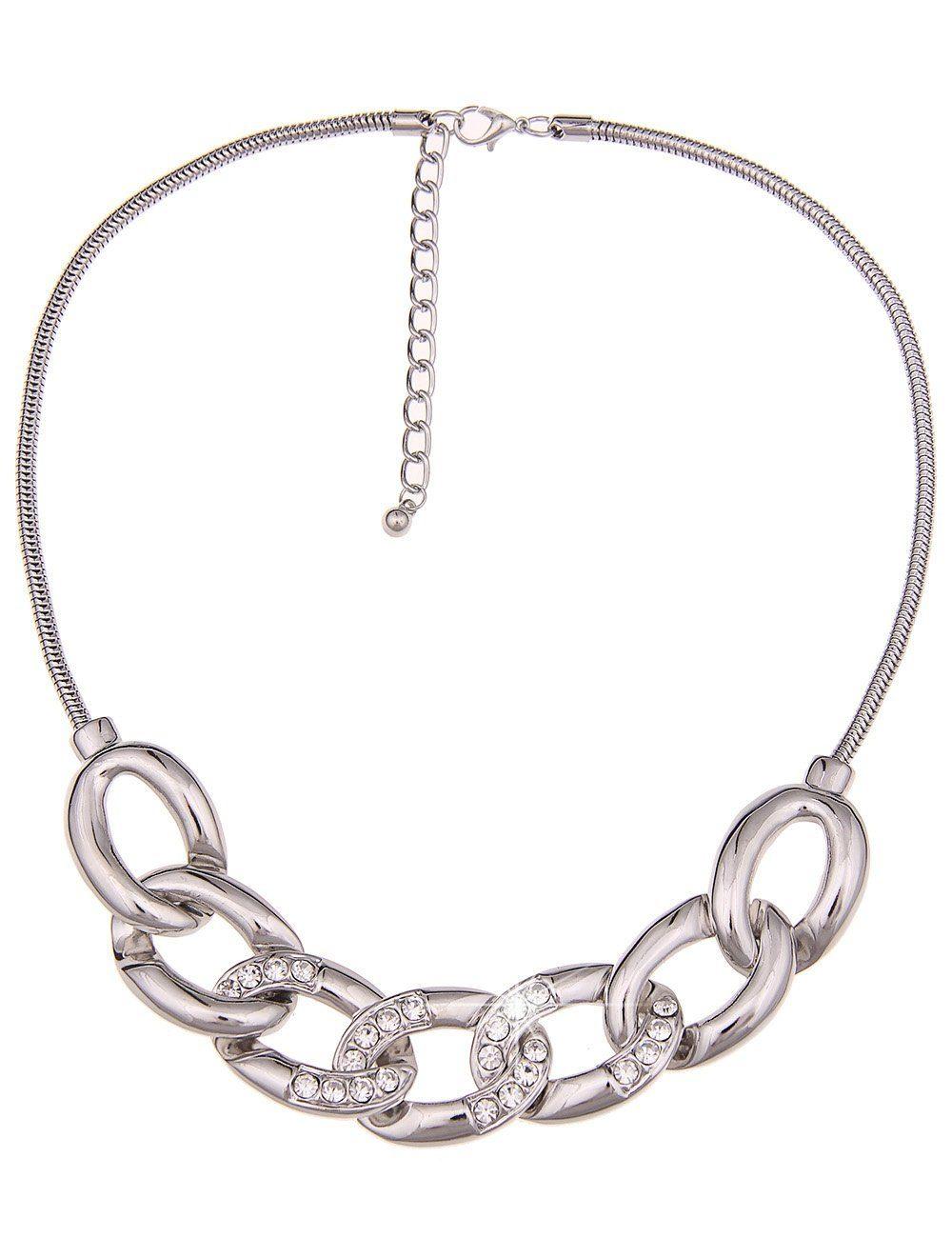 Leslii Halskette mit Glitzer-Elementen