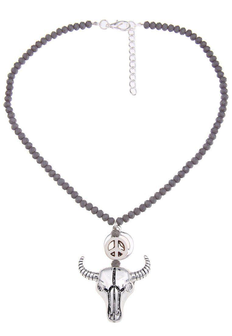 Leslii Halskette mit Stierkopf-Anhänger