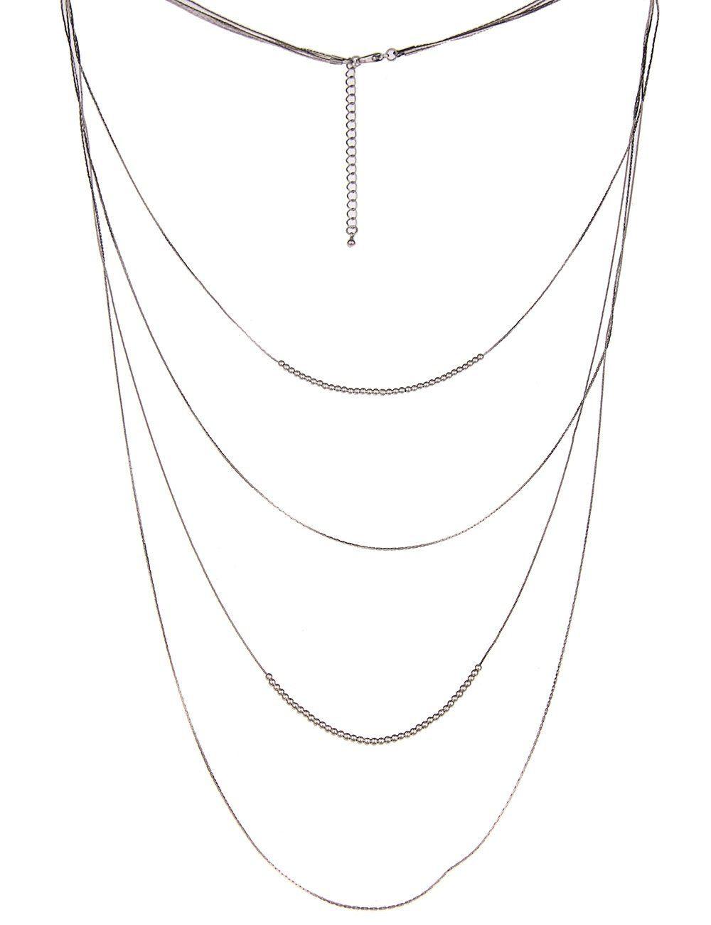 Leslii Halskette mit vier zarten Gliedern
