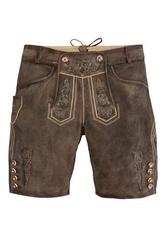 Marjo брюки кожаные из национального к...