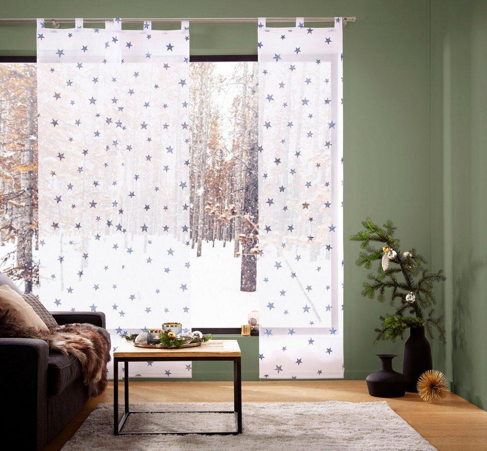 schiebegardine stern my home schlaufen 1 st ck. Black Bedroom Furniture Sets. Home Design Ideas
