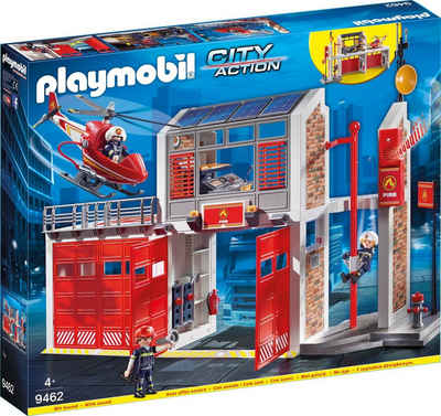Playmobil® Konstruktions-Spielset »Große Feuerwache (9462), City Action«, Made in Germany