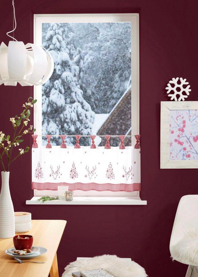 scheibengardine sam my home schlaufen 1 st ck weihnachtsgardinen online kaufen otto. Black Bedroom Furniture Sets. Home Design Ideas