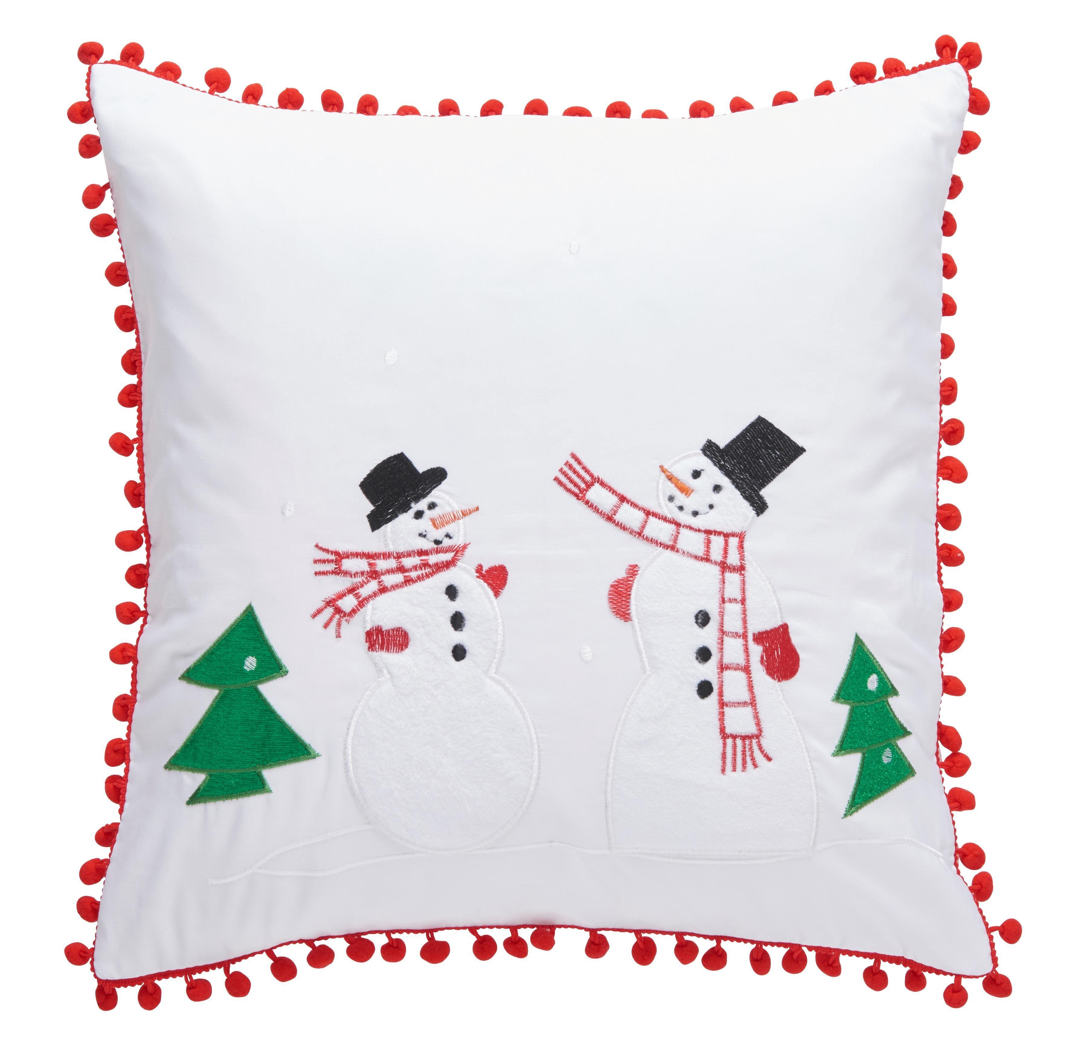 Kissenhülle »Schneemänner«, my home (1 Stück), Weihnachtsdeko