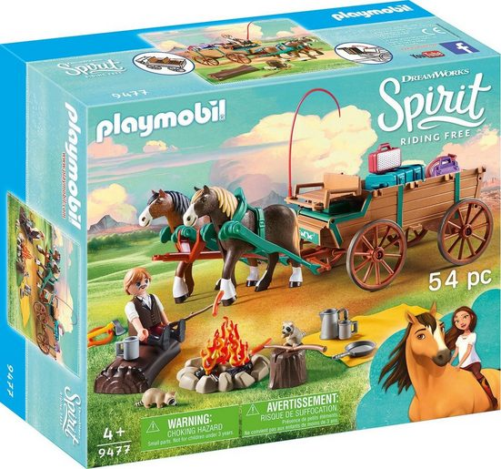 Playmobil® Konstruktions-Spielset »Vater Jim mit Kutsche (9477), Spirit Riding Free«, Kunststoff