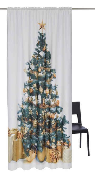 Vorhang »Tannenbaum«, My Home, Stangendurchzug (1 Stück), Weihnachtsdeko