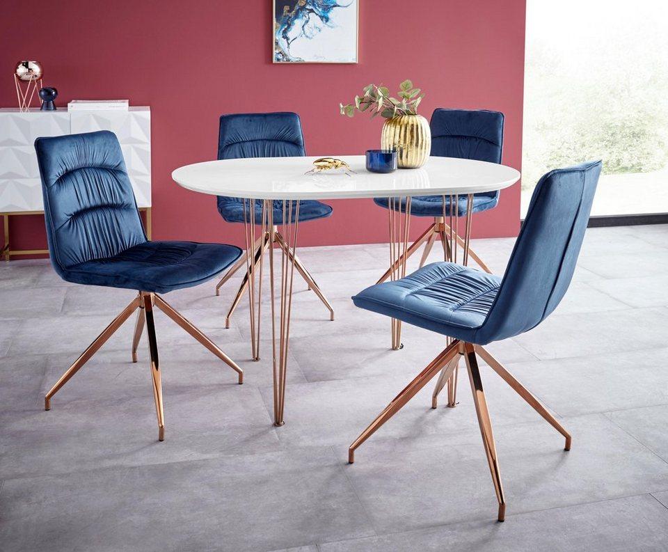 essgruppe elliot1 zoe 4 st hle und 1 tisch breite 120 cm online kaufen otto. Black Bedroom Furniture Sets. Home Design Ideas