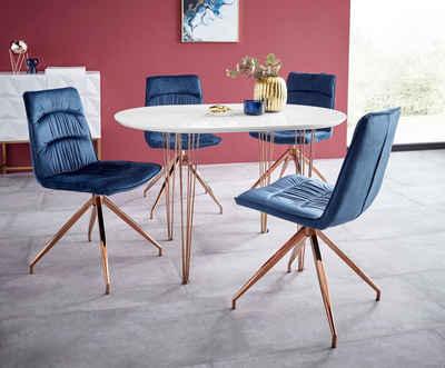 essgruppe elliot1 zoe 4 stuhle und 1 tisch breite 120 cm
