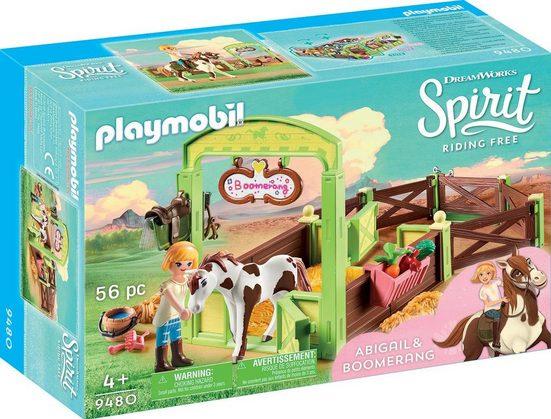 Playmobil® Konstruktions-Spielset »Pferdebox Abigail & Boomerang (9480), Spirit Riding Free«, Kunststoff