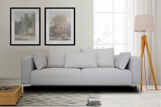 INOSIGN 3-Sitzer »Perle«, in tollem Design, Metalbeine, Zierkissen