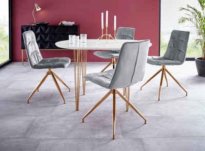 Essgruppe »Elliot1/Zoe«, 4 Stühle Und 1 Tisch, Breite 120 Cm
